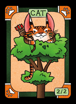 4x Cat (Tiger) Tokens for MTG (LAN)