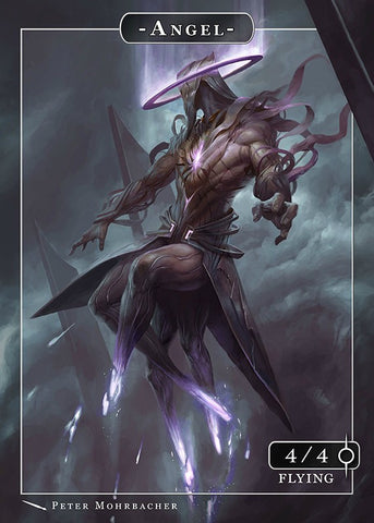 Angel Token for MTG (PMO) Token Angelarium - Cardamajigs