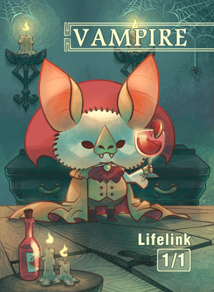 Vampire Lifelink Token for MTG (COL)