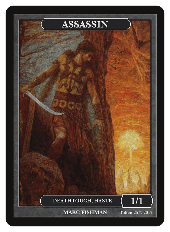 Limited Edition Assassin Token for MTG (by Marc Fishman)