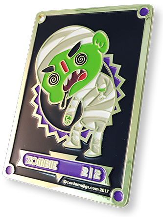 Zombie Premium Gold Enamel token for MTG (CMJ)