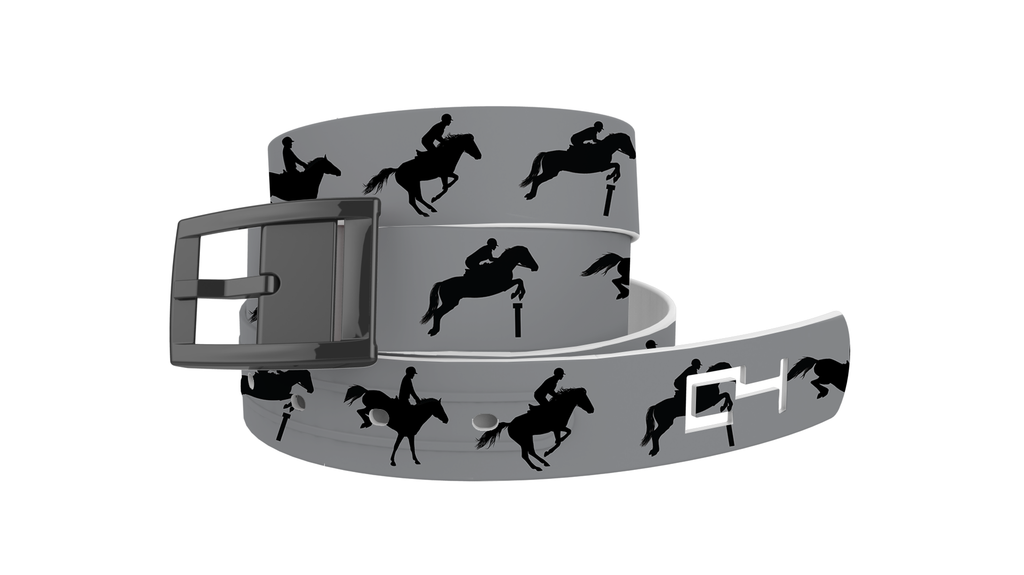 C4 Classic Grey Jump Graphic Belt & Black Chrome Buckle