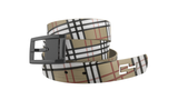 C4 Classic Khaki Plaid Graphic Belt & Black Chrome Buckle