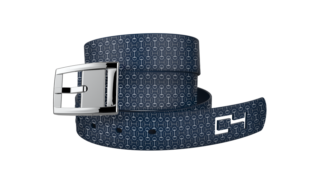 C4 Classic Navy Bits Graphic Belt & Silver Chrome Buckle