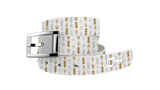 C4 Classic White Arrow Graphic Belt & Silver Chrome Buckle