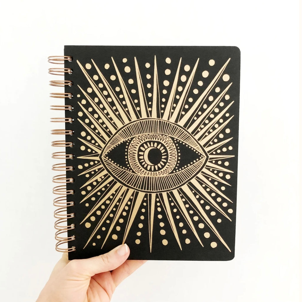 Rainbow Vision Seeing Eye Journal Black
