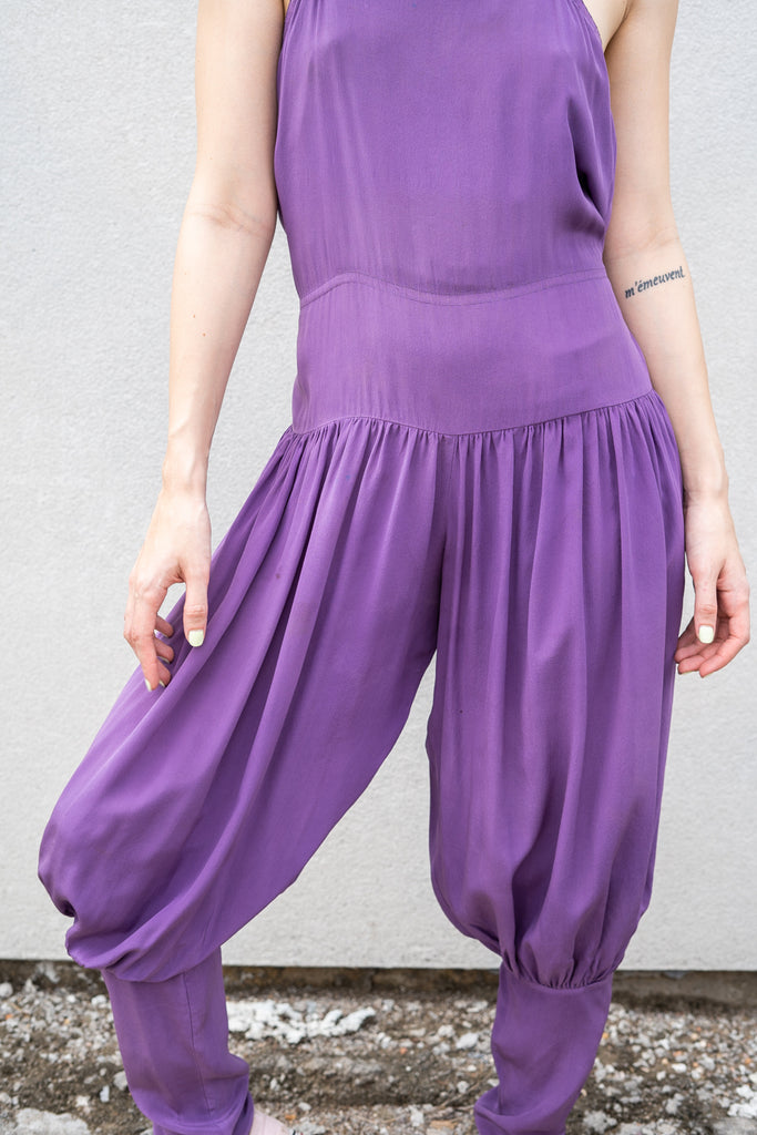 Lilac Silk Jumpsuit