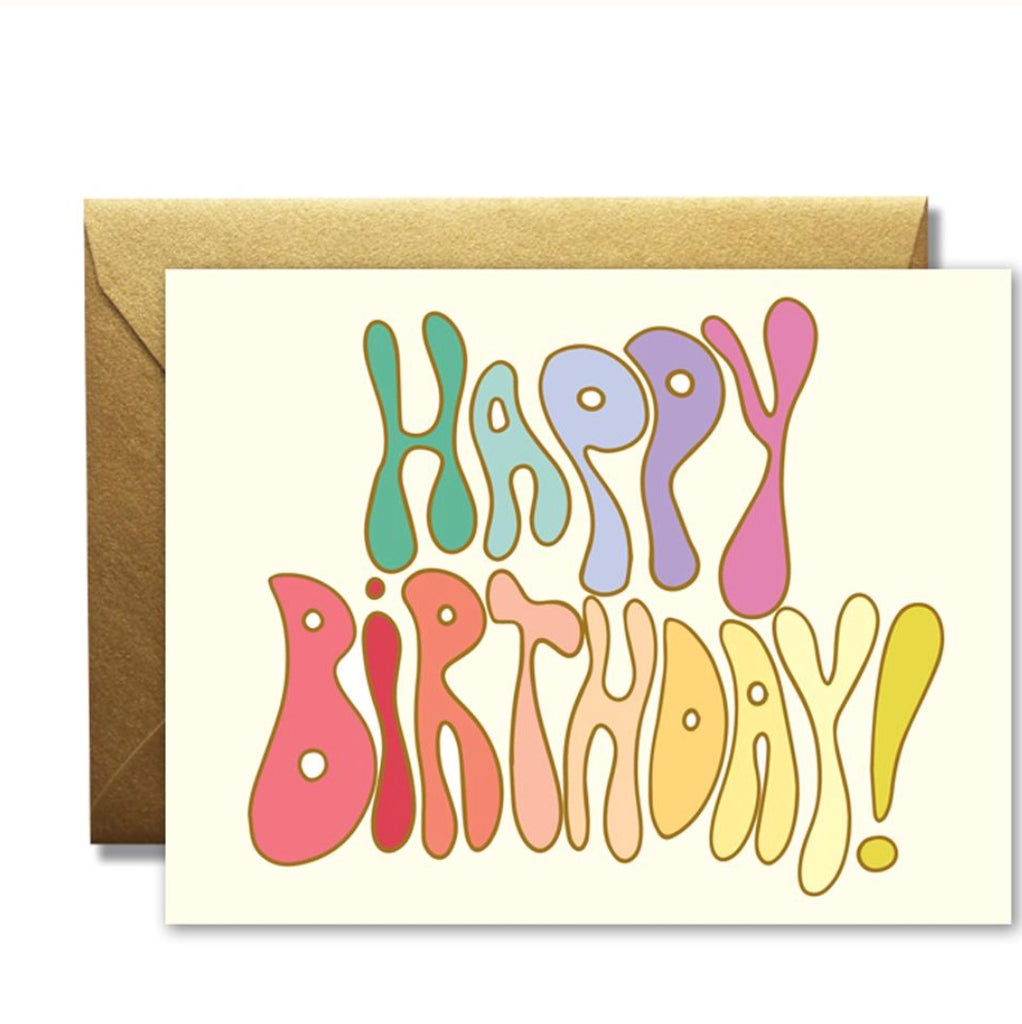 Rainbow vision Happy Birthday Groove Card