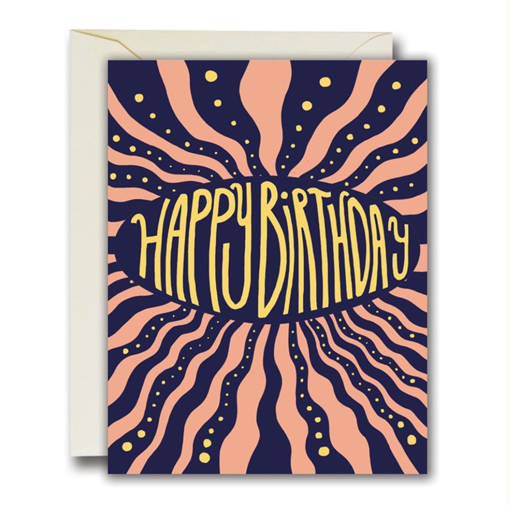 Rainbow Vision Happy Birthday Vibes Card
