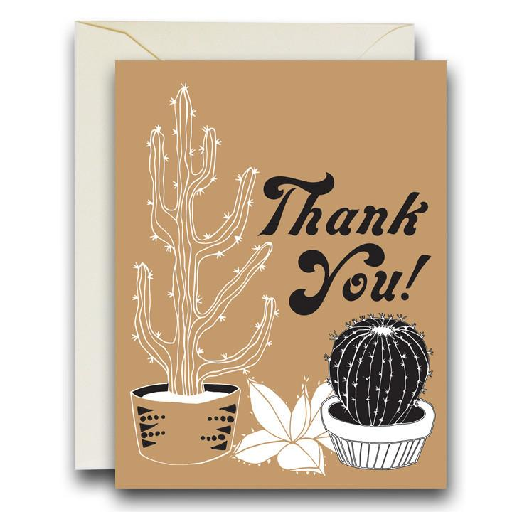Rainbow Vision Cacti Thank You Card