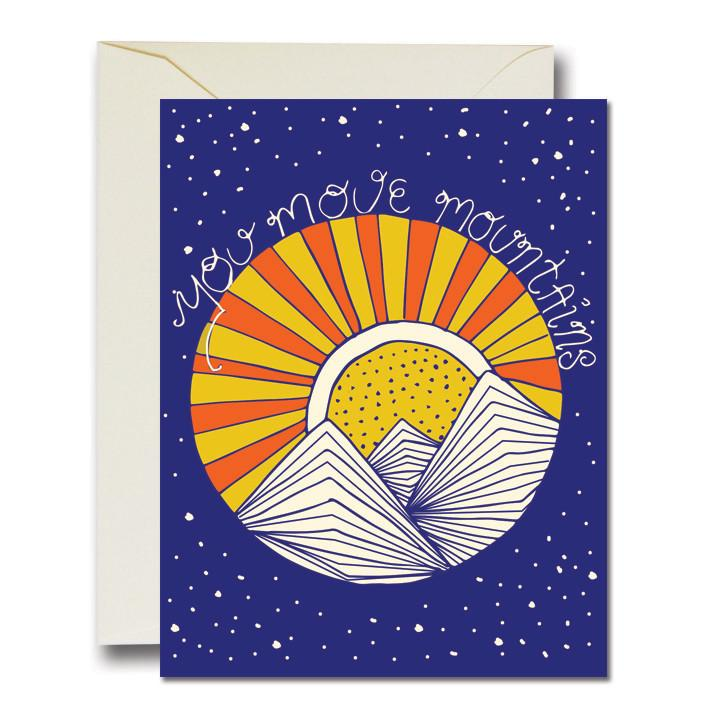 Rainbow Vision You Move Mountains Card