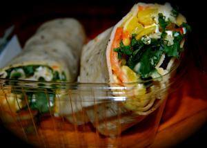 Wraps - Spicy Feta Hummus (V)