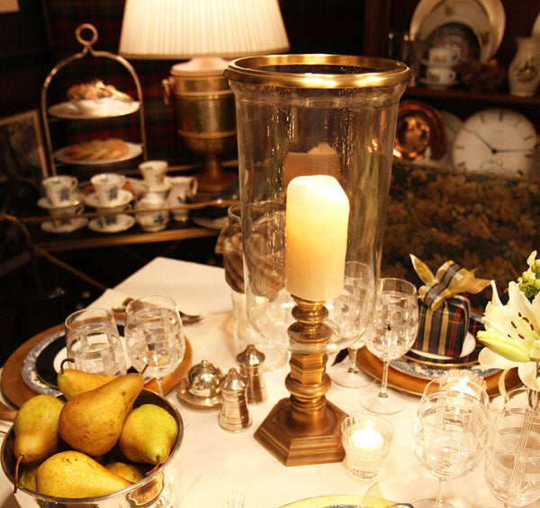 Candles and Hurricane Lamps