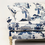 The Charlotte Settee - shown in Cordelia Park Toile / Ink