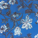 Harrison Floral - in Prussian Blue
