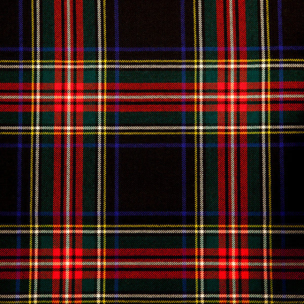Stewart Black Tartan Scot Meacham Wood Home
