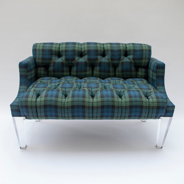 The Mayfair Settee - shown in Ancient Campbell Tartan - FLOOR SAMPLE