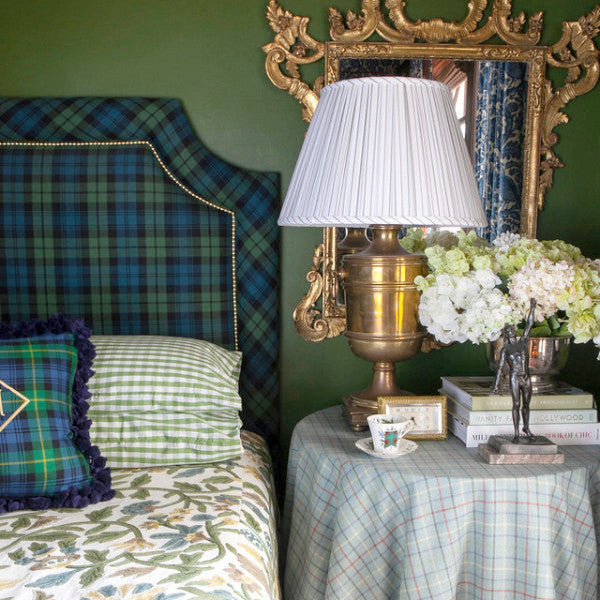 The Mayfair Headboard - shown in Ancient Campbell Tartan