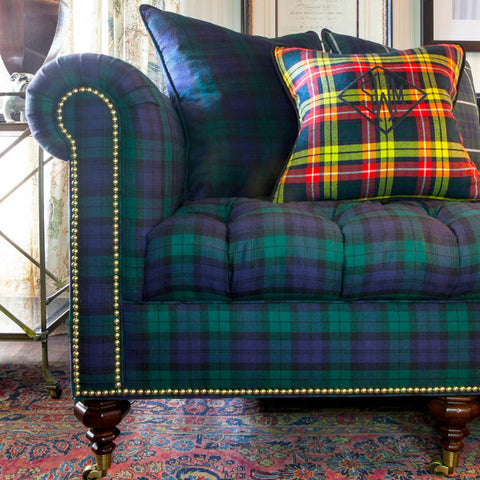 The Inverness Sofa - shown in Blackwatch Tartan - FLOOR SAMPLE