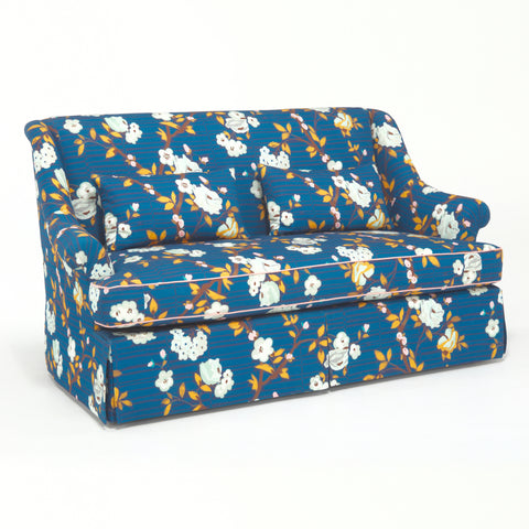 The Emma Loveseat - shown in Camille Floral / Midnight