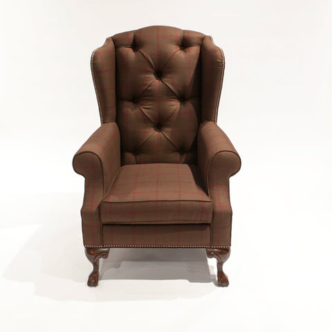 The Albert Reading Chair - shown in Scudder Tattersall - SAMPLE SALE