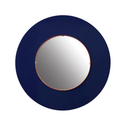 The Brighton Mirror in Tartan Navy Lacquer - FLOOR SAMPLE