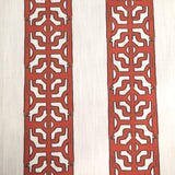 Chinoiserie Stripe - in Cranberry