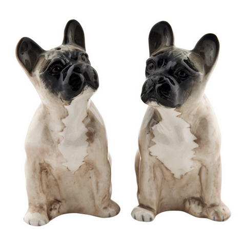 French Bulldog Salt and Pepper Set in Fawn