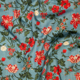 Harrison Floral - in Balmoral Blue