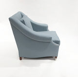 The St. James Armchair - shown in Heather Wool Twill/Sky
