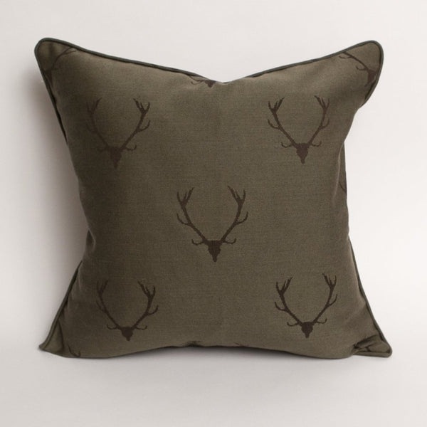 Stag's Leap Damask Pillow - in Loam