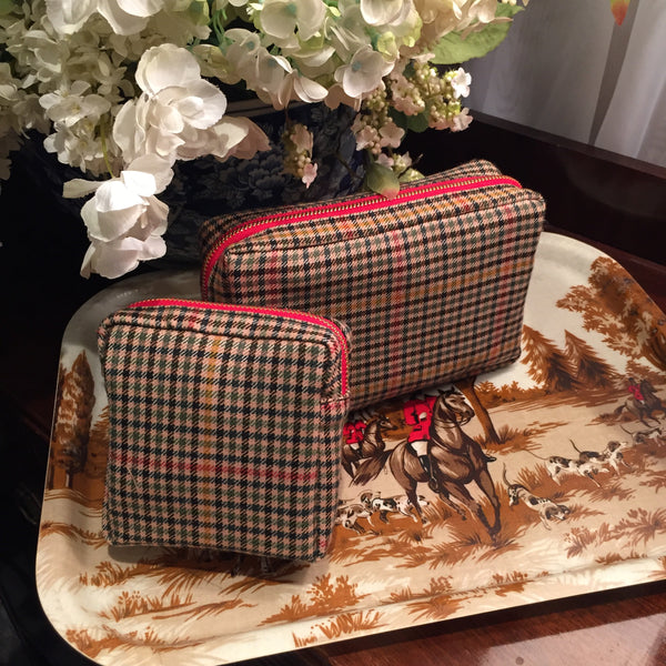 Tartan Dopp Kit - Thistle Check Tweed