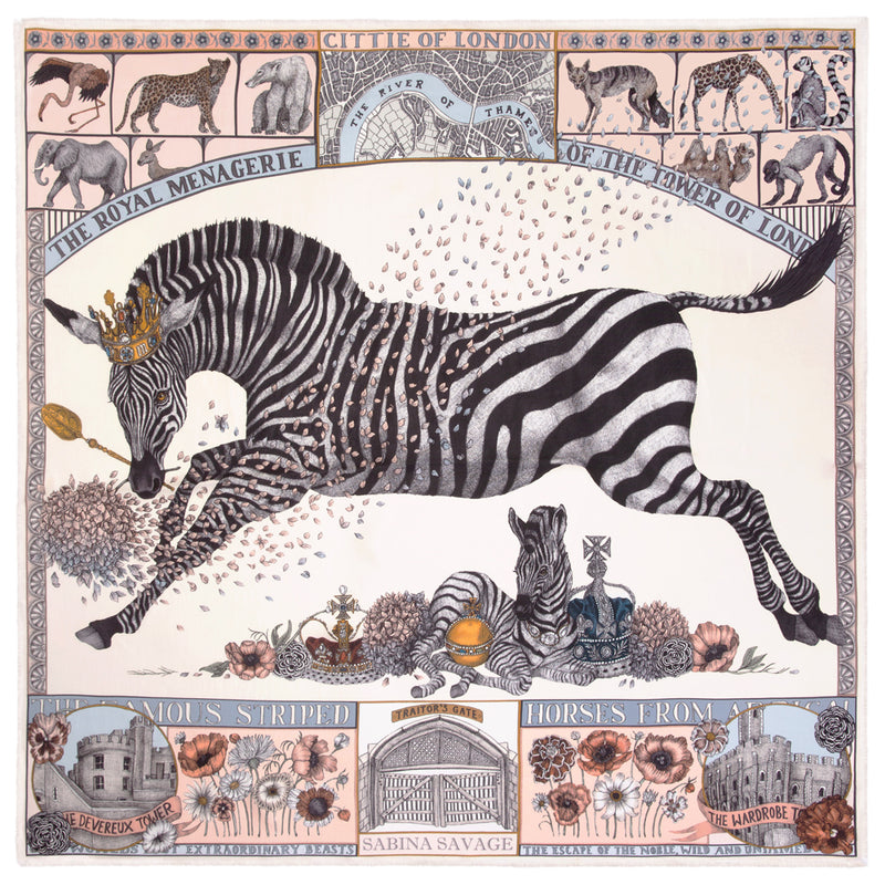 The Royal Striped Horses - Large Silk