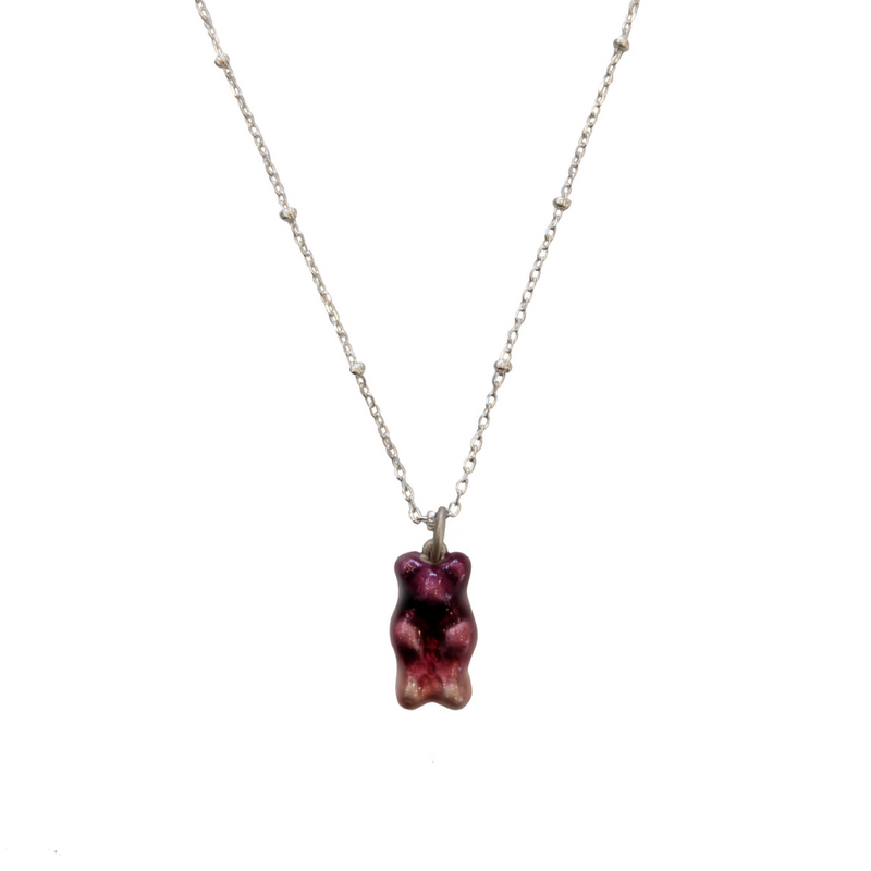 The Gummy Necklace - Silver Base - Short