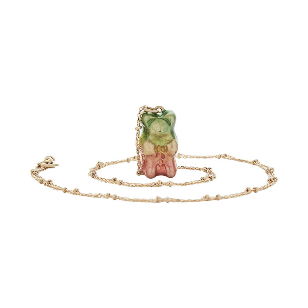 The Gummy Necklace - Gold Base - Short