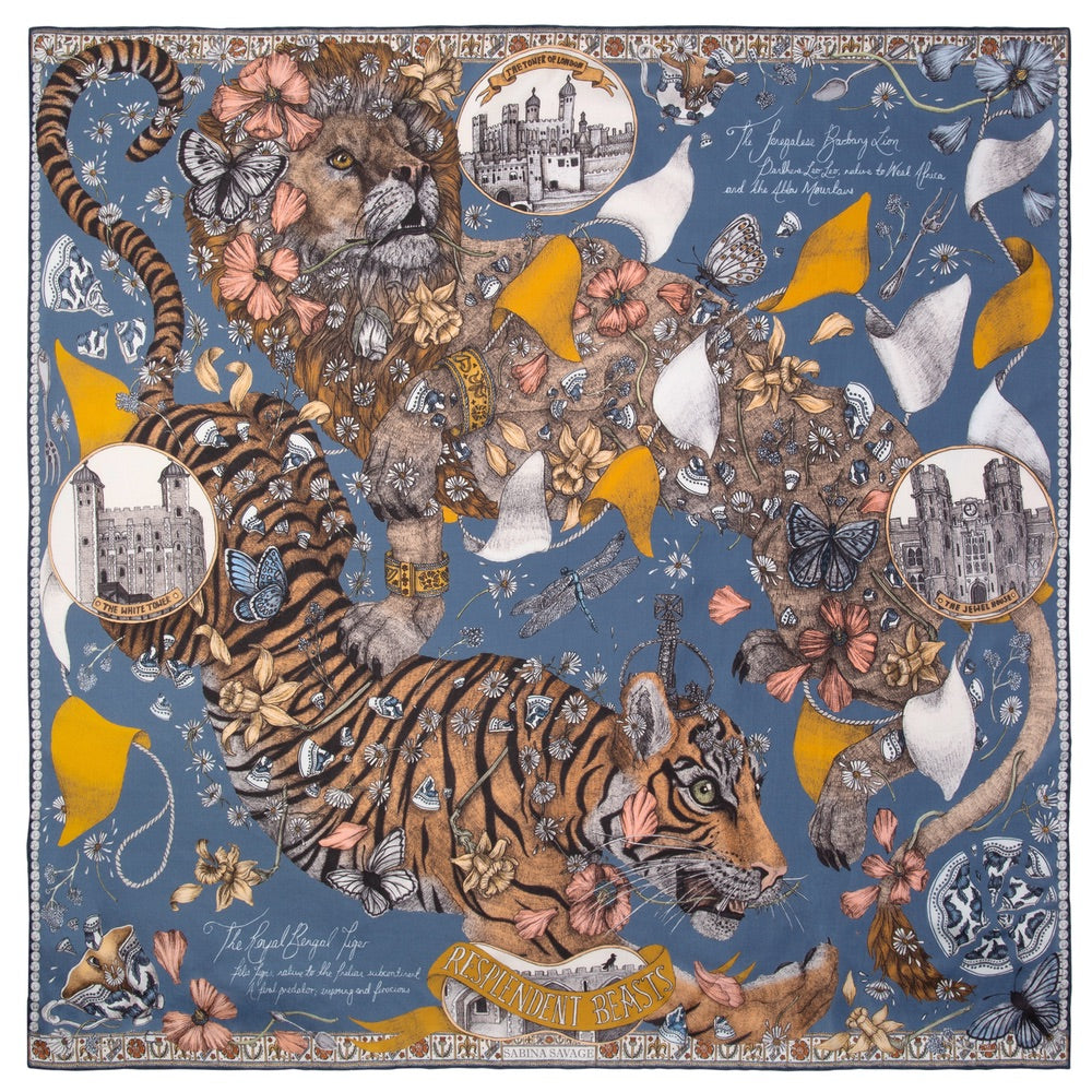 The Lion and Tiger's Tea Party 90cm x 90cm