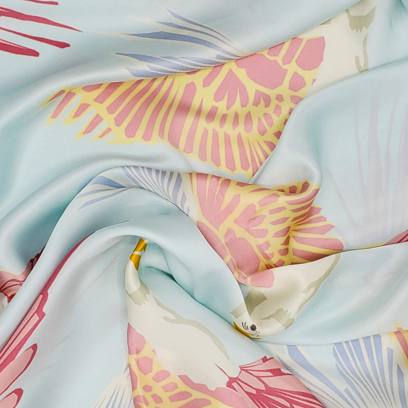 Birds - Oversized Silk Scarf