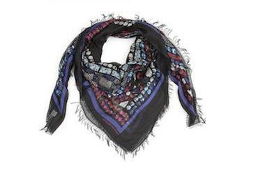 Crown Black Modal Scarf