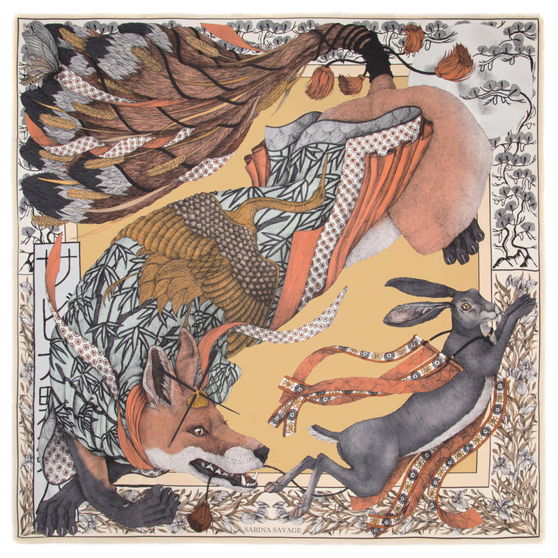 The Cunning Kitsune - Large Silk