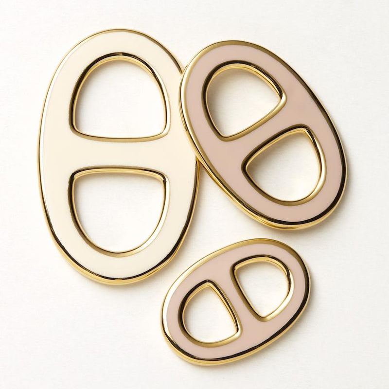 Reversible Scarf Ring - Gold/Beige/Cream