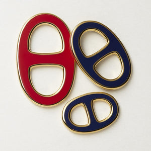 Reversible Scarf Ring - Gold/Bordeaux/Navy