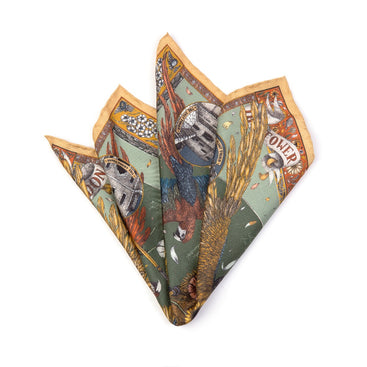 The Princely Parrots Neckerchief/Pocket Square