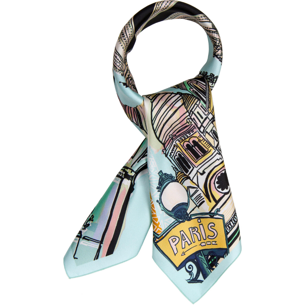 Paris silk scarf
