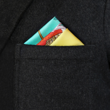 Under the Sea Pocket Square