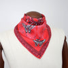 Queen Stag Beetle Neckerchief/Pocket Square - Red