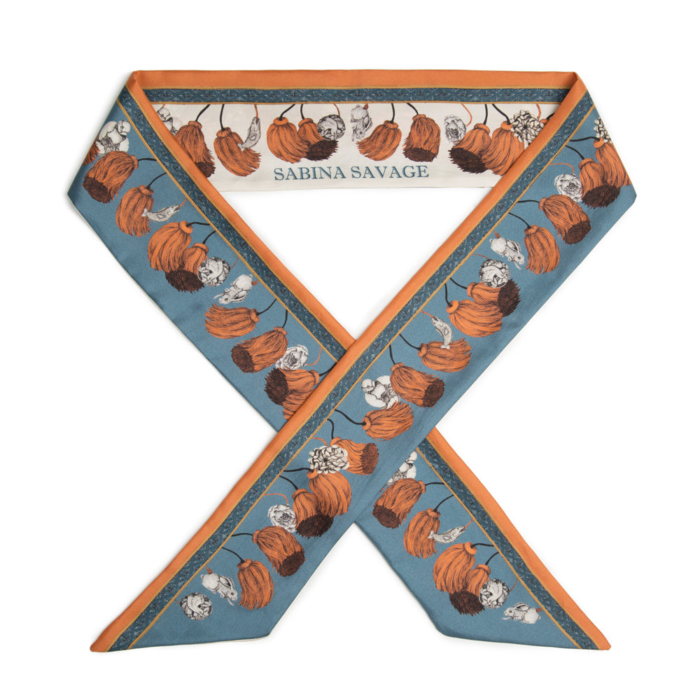 The Rooster's Dance - Large Silk Ribbon