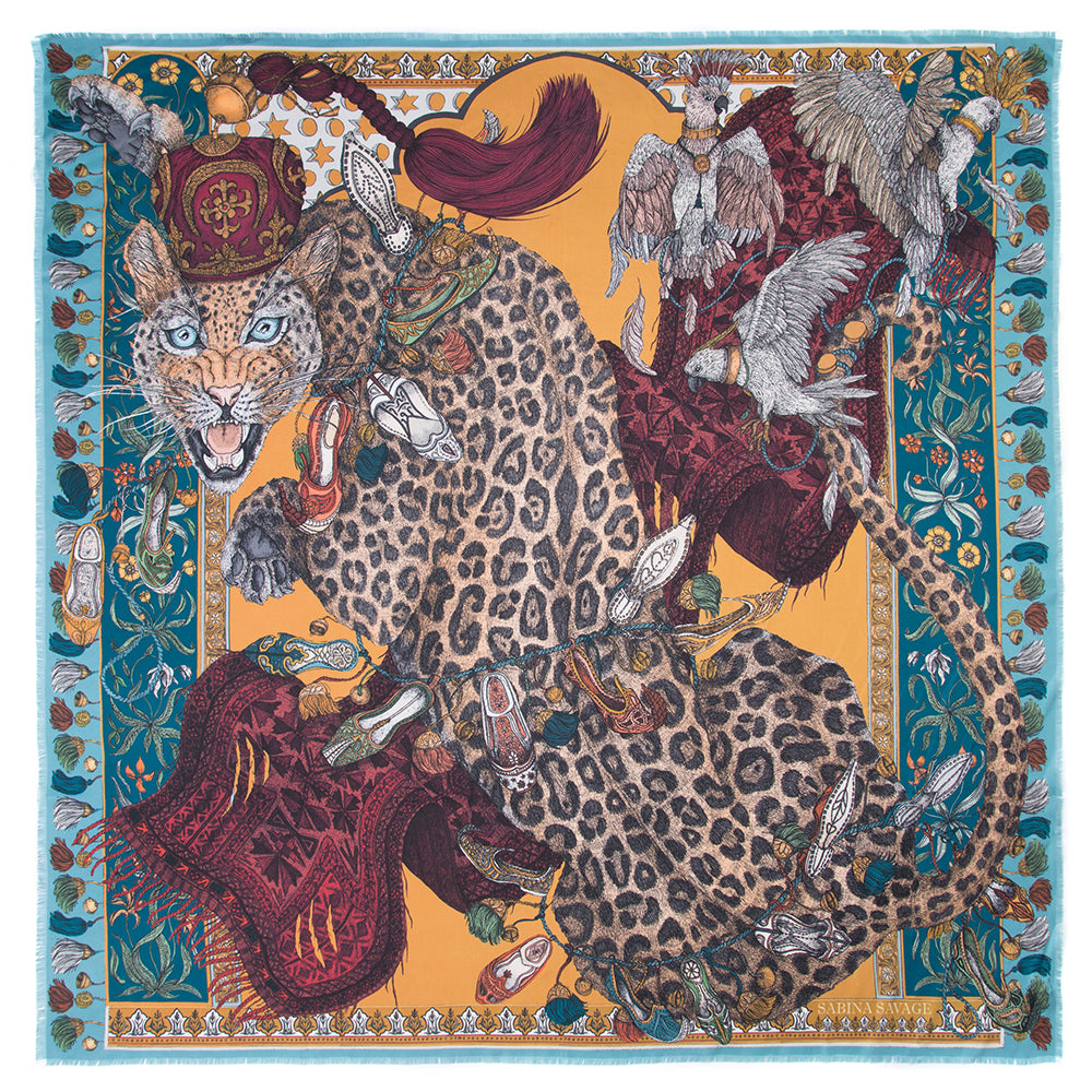 The Leopard's Bazaar - Large Silk