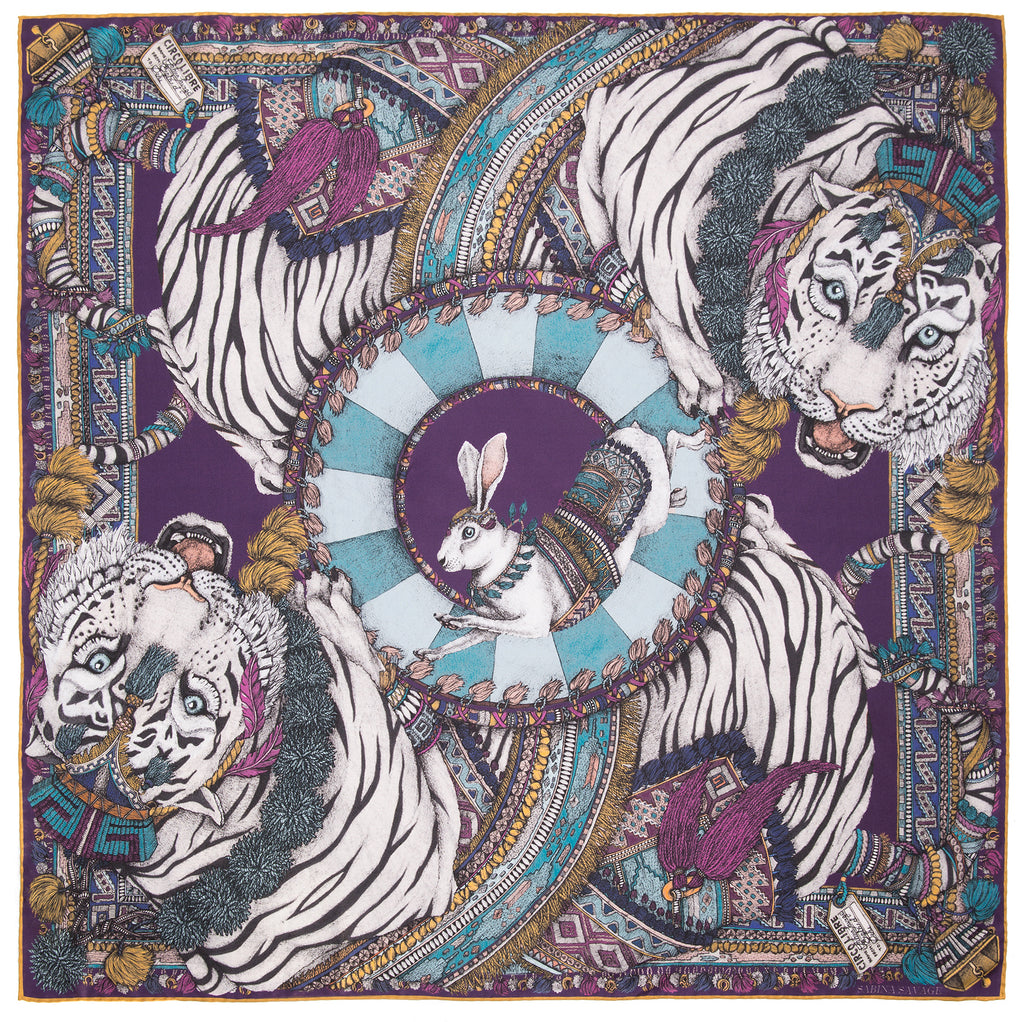 The Tasseled Tigers 90 cm x 90 cm