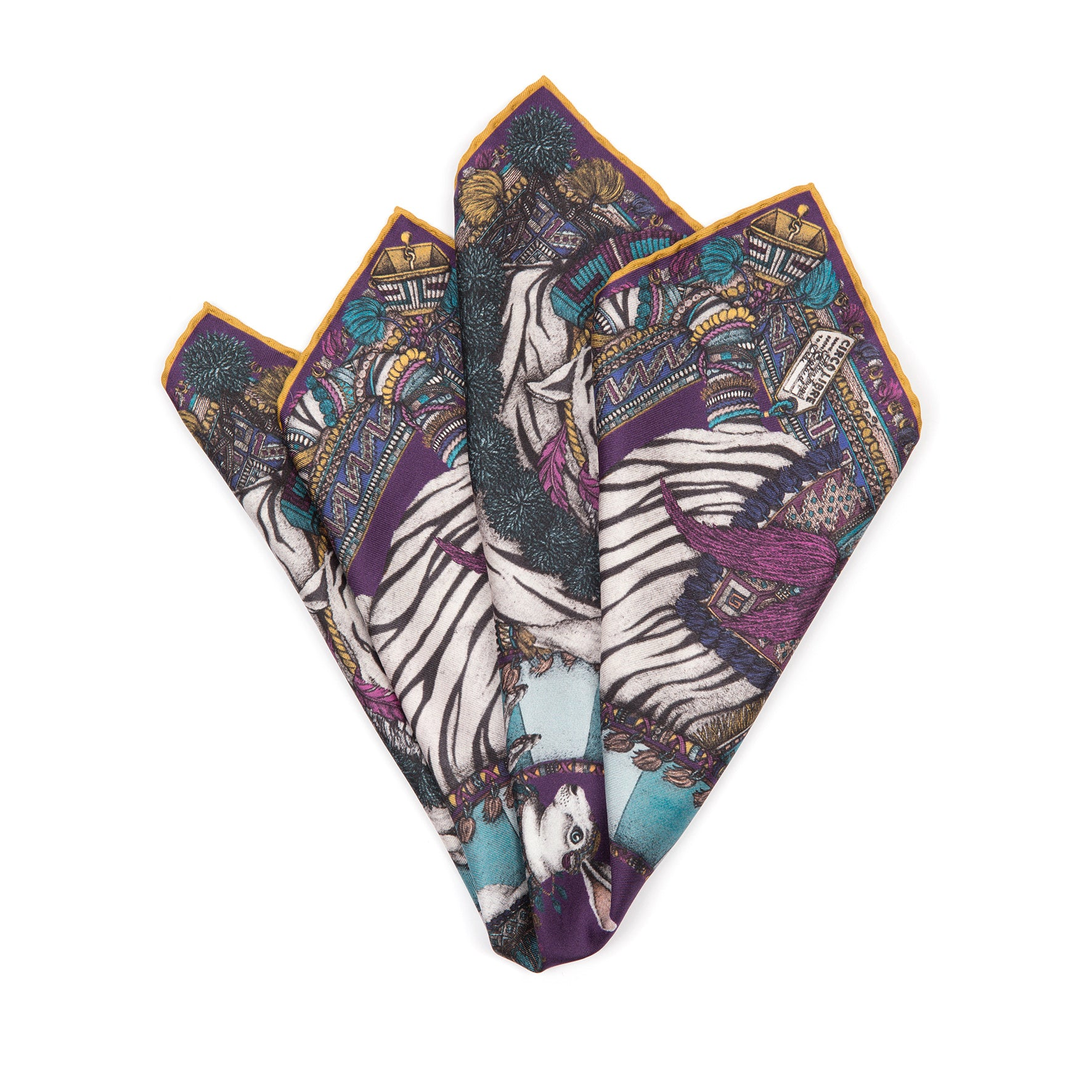 The Tassels Tiger Neckerchief/Pocket Square