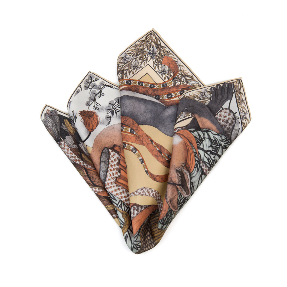 The Cunning Kitsune Neckerchief/Pocket Square